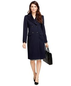 Double-Breasted Wool Coat - Brooks Brothers