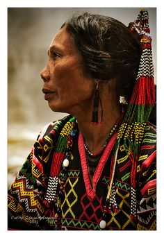 """This is listed as, """"T'boli woman from South Catabato, Mindanao by Catherine Israel-Angeles. We Are The World, People Around The World, Real People, Cultura Filipina, Beautiful World, Beautiful People, Folk Costume, Costumes, Filipino Culture"""