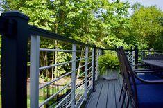 📸@renaissance_roofing_exteriors  #home #exteriordesign #deco #decor #homedecor #decoration #decking #railing #trexrailing #trexdecking #exteriors #homestyle #homeinspo  #homeinspiration #modernhome #homereno #housegoals Deck Railing Kits, Metal Deck Railing, Deck Railing Systems, Steel Railing, Trex Composite Decking, Exterior, Basement Renovations, Outdoor Living, Outdoor Decor