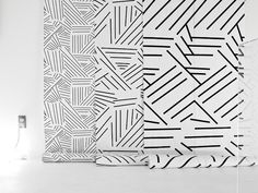 Gorgeous modern wallpaper via Maison Modele. I would love to mix all three...