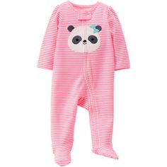 Child of Mine by Carter's Newborn Girl Cotton Zip Up Sleep n' Play. I don't know why it shows the pink i want the gray one with polka dots. http://www.walmart.com/browse/baby-clothing/baby-clothing/5438_584291_1043628/?_refineresult=true&facet=apparel_category%3ANewborn+Girls&povid=P1171-C1110.2784+1455.2776+1115.2956-L169