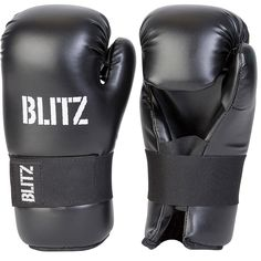 Deluxe Competition Vinyl Semi Contact Gloves Black