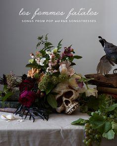 Florals in a skull vase