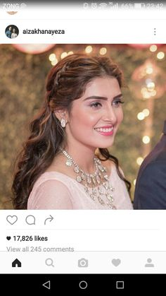aiza Khan Casual Hairstyles, Braided Hairstyles, Wedding Hairstyles, Ayeza Khan, Mahira Khan, Aiza Khan Wedding, Indiana, Prettiest Actresses, Indian Bridal Wear