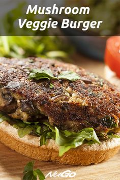 Tired of bland and boring veggie burgers? Then you'll want to try this delicious, gluten-free, and vegan Mushroom Veggie Burger Recipe! It only takes 30 minutes to make this hearty, gluten-free, and vegan mushroom veggie burger. Vegetable Burger Recipe, Veg Burgers Recipe, Mushroom Veggie Burger, Meatless Burgers, Vegetable Recipes, Best Vegan Burger Recipe, Quinoa Veggie Burger, Veggie Food, Recipes