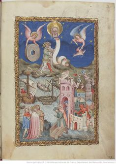 Manuscrit Apocalipsis in dietsche. Apocalypse, Bnf, Religion, Miniatures, Oeuvres, Painting, Castles, Pictogram, Middle Ages