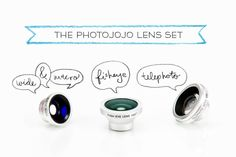 The Photojojo Phone Lens Series - iPhone lenses - perfect gift for the instagram addict. #instagram #present