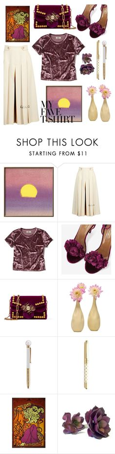 """My Fave Shirt"" by bysc ❤ liked on Polyvore featuring Gucci, Hollister Co., Aquazzura and Kate Spade"