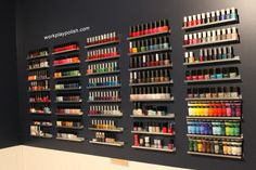 Wall racks for nail polishes. The best room of the house for a nail polish addict. By Work/Play/Polish.