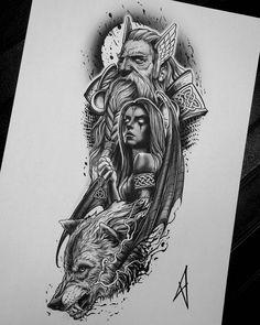 norse tattoo men & norse tattoo + norse tattoo sleeve + norse tattoo viking + norse tattoos for women + norse tattoo men + norse tattoo symbols + norse tattoo valkyrie + norse tattoo ideas Tattoo Design Drawings, Tattoo Sleeve Designs, Tattoo Sketches, Tattoo Designs Men, Sleeve Tattoos, Forarm Tattoos, Wolf Tattoos, Body Art Tattoos, Tattoo Ink