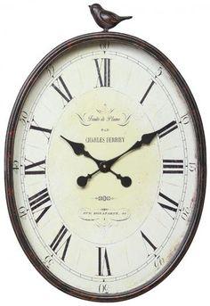 Wall Clock with Bird