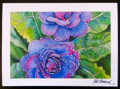 PRIMROSE Fine Art Card Reproduction of by PatsPaintedPrism