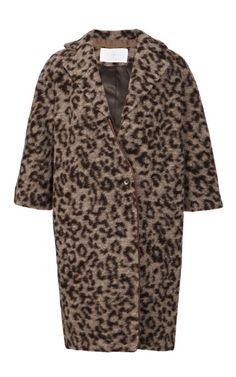 Fashion Week Necessity: Statement Coat like this Leopard Printed Leather Collared Coat by Thakoon Addition Now Available on Moda Operandi