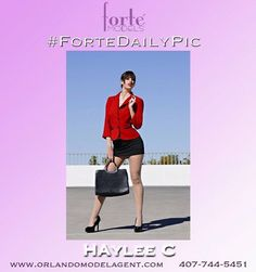 Forte Models introduces Haylee C, one of our many beautiful Las Vegas models available for trade shows, print, and events. www.orlandomodelagent.com.  #fortedailypic