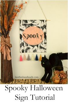 I'm so excited for Fall and Halloween this year. It's time for creepy stories and scary decorations! You can use this spooky Halloween sign tutorial and the Cricut Maker to make a perfect Halloween hanging sign! It's a simple design that can be customized Spooky Halloween, Halloween This Year, Halloween Signs, Halloween House, Scary Decorations, Diy Halloween Decorations, Halloween Sewing Projects, Halloween Crafts, Thanksgiving Projects