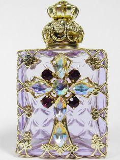 Czech Jeweled Perfume Bottle Holder | Buy #gemstones online at mystichue.com
