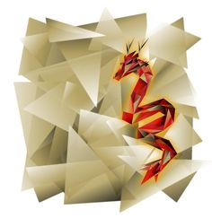 geometric dragon - Google Search