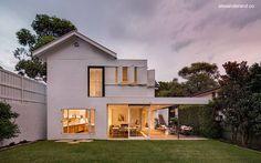 Bungalow ampliado y remodelado en Nueva Gales del Sur, Australia.