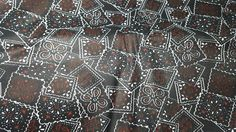 Black Poly-Cotton Bandana Printed Fabric by the Yard by LaCreekBlue on Etsy