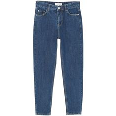 MANGO Mom relaxed jeans (3.485 RUB) ❤ liked on Polyvore featuring jeans, relaxed fit jeans, relaxed jeans, blue jeans and mango jeans