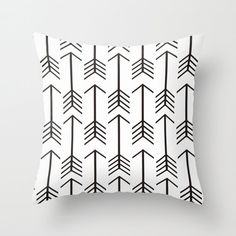 Arrow Pillow Cover Black Pillow Black and White Pillow Rustic Pillow 8 Sizes…