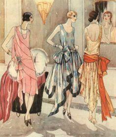 "From the 1928 U.K. fashion magazine ""Women's Journal""."