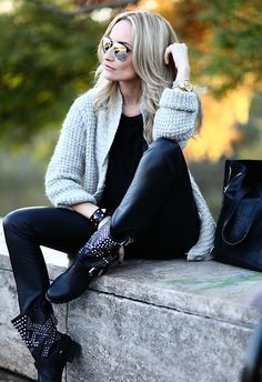 Rock chic (by Silvia P.) http://lookbook.nu/look/4217327-rock-chic