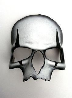 Harlequin Skull Leather Mask by mrhydesleather on Etsy, $48.00