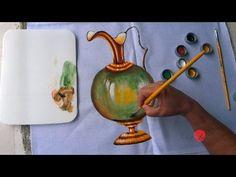 Jarra com Margaridas em Tecido (Parte1/Aula25) - YouTube