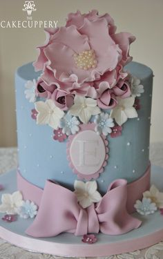 'Ellie' Christening Cake by The Cake Cuppery