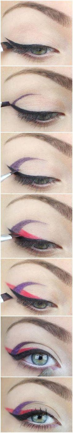 Purple and Red Halloween Eye Shadow Tutorial