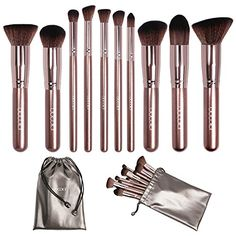 Updated Version Docolor Makeup Brushes Set Kabuki Foundation Kits with Cases10PcsCoffee *** Be sure to check out this awesome product.