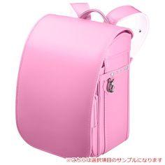 女の子用オーダーメイドランドセル メインカラーフェアリーピンクのサンプルになります。