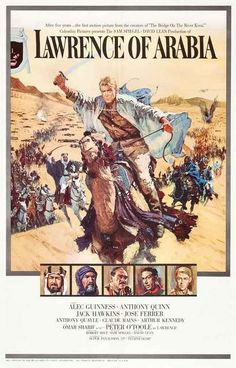 A great poster from the award-winning movie Lawrence of Arabia! Starring Peter…