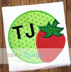 Strawberry Circle Applique - 4 Sizes! | What's New | Machine Embroidery Designs | SWAKembroidery.com Creative Appliques