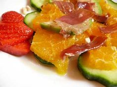 Iberian ham with orange and avocado salad - delicious tapas recipe ideas using the finest ingredients from Spain, discover more online. Spanish Cuisine, Spanish Food, Spanish Recipes, Tapas Menu, Avocado Salad Recipes, Tapas Recipes, Orange Salad, Mediterranean Diet Recipes, Recipe Ideas