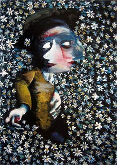Paintings - Charles Blackman - Page 3 - Australian Art Auction Records Australian Painting, Australian Artists, Alice In Wonderland Series, Unusual Art, Bear Art, Modern Artists, Stargazing, Illustration Art, Art Prints