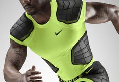 As the game of football accelerates, Nike Pro Combat Hyperstrong evolves for better protection.