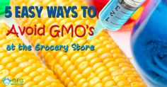 Want to avoid genetically modified organisms (GMOs)? - Here I share with you 5 easy ways to avoid genetically modified organism (GMOs) at the grocery store.