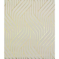 York Wallcoverings Antonia Vella Ebb and Flow L x W Metallic/Foiled Wallpaper Roll Color: Almond/Gold White And Gold Wallpaper, Metallic Wallpaper, Embossed Wallpaper, Wallpaper Panels, Retro Wallpaper, Geometric Wallpaper, Wallpaper Roll, Peel And Stick Wallpaper, Blush Wallpaper