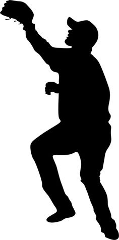 Free Clip-Art: People   Sports   Silhouette Baseball Player ...