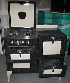 art deco applance 1920-1930 | VINTAGE Art Deco Oxford Universal Stove/Oven W/ Marble by TOPANGAL