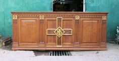 Llanelli Grand Oak Centrepiece Altar - Top trade supplier of Antique Ecclesiastical Furnishings, furniture, fixtures and fittings in Great Britain. Great Britain, Altar, Buffet, Centerpieces, Antiques, Top, Furniture, Home Decor, Antiquities