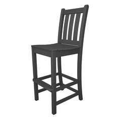 POLYWOOD Traditional Garden Outdoor Bar Side Chair available at Vermont Woods Studios
