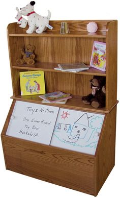 Amish Pine Hollow Toy Box and Bookshelf                                                                                                                                                                                 More