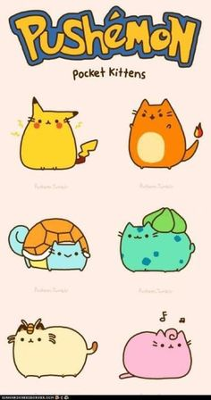 These chibi Pokemon....Oh my.....WAIT A MINUITE the bottom left one is acually a cat.ITS MEOWTH or persian cant tell