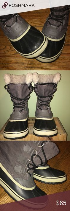 Sorel Winter Carnival Waterproof Boots - Sz 8.5 Gaia can these boots have scuffs, scraps, dirt and scratches from normal pre-owned wear. Waterproof nylon upper. Seam-sealed waterproof construction. Sorel Shoes Winter & Rain Boots