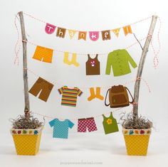 Doodlebug Design Inc Blog: Express Your Gratitude with a Thankful Clothesline