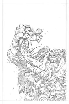 Sneak peak at the pencils to the cover of issue #3! by Joe Madureira