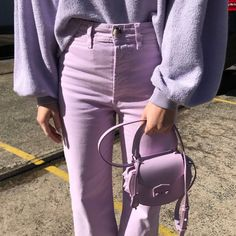 The Most Pinnable Street Style Outfits From Australian Fashion Week Purple Outfits, Colourful Outfits, Street Style Outfits, Fashion Outfits, Fashion Trends, Fashion Tips, Purple Fashion, Colorful Fashion, Murs Violets